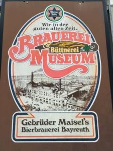 Schild des Museums der Brauerei Maisel