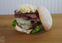 Double Cheese Pastrami Burger - Ludwigs Burger Bash