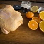 Orientalisches Maishähnchen mit Clementinen und Fenchel