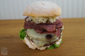 Double Cheese Pastrami Burger